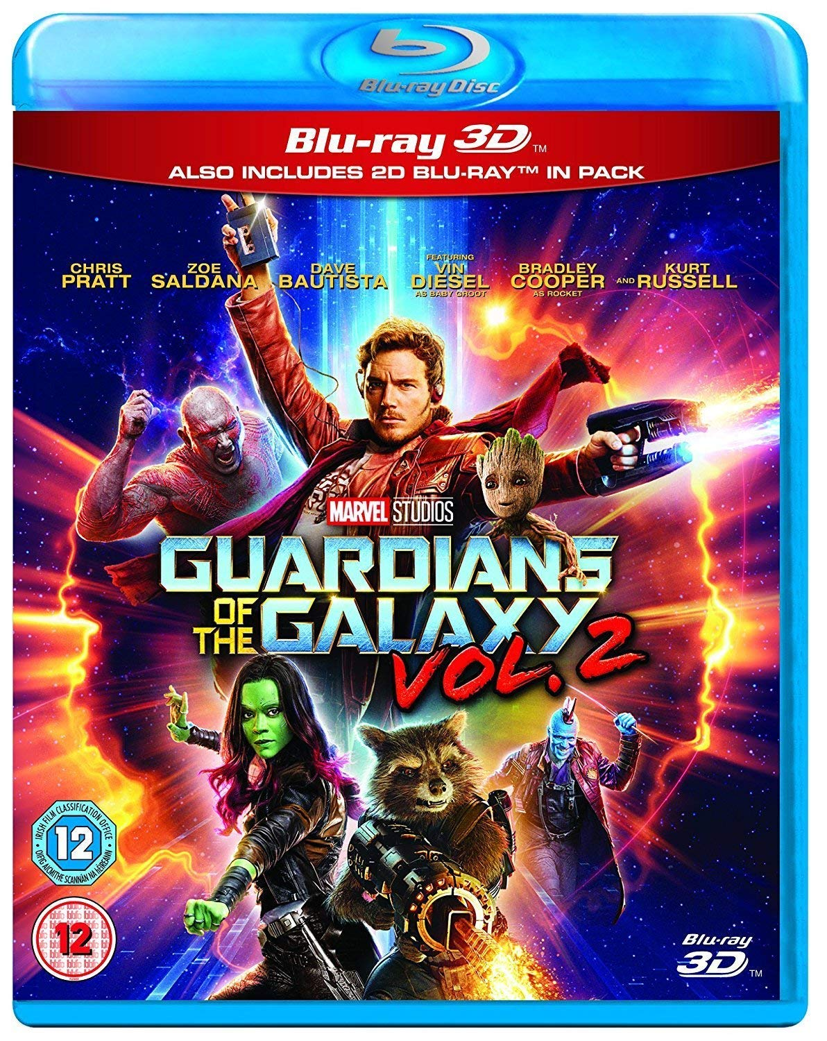 Guardians of the Galaxy Vol. 2 [Blu-ray 3D + Blu-ray] Chris Pratt Zoe Saldana Dave Bautista Vin Diesel