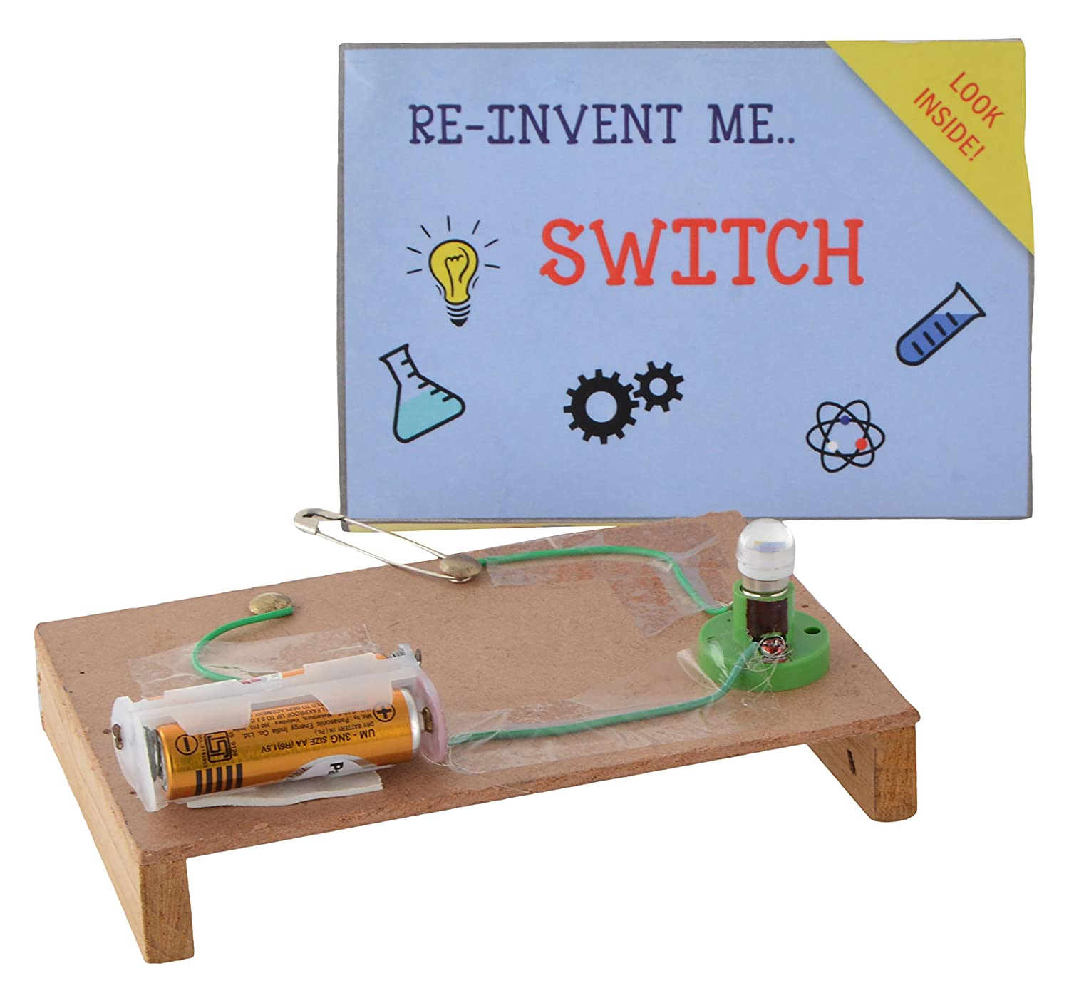 Buy Projectsforschool Simple Electric Switch School Science Project Electrical Circuit For Kids Working Model Diy Kit Game Multicolored Online At Low Prices In India