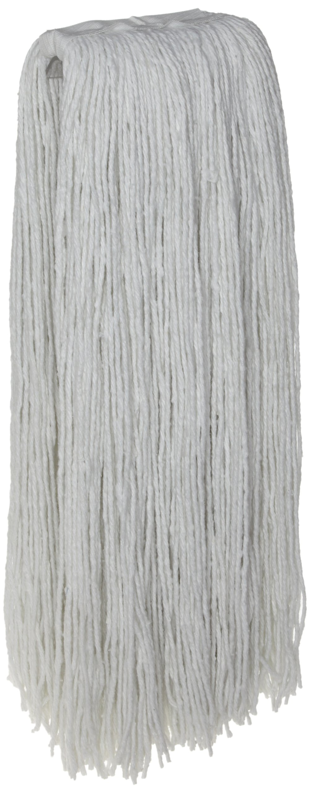 Zephyr 10516 Rayon 4-Ply 16oz Cut End Wet Mop Head with 1-1/4'' Regular Headband (Pack of 12)