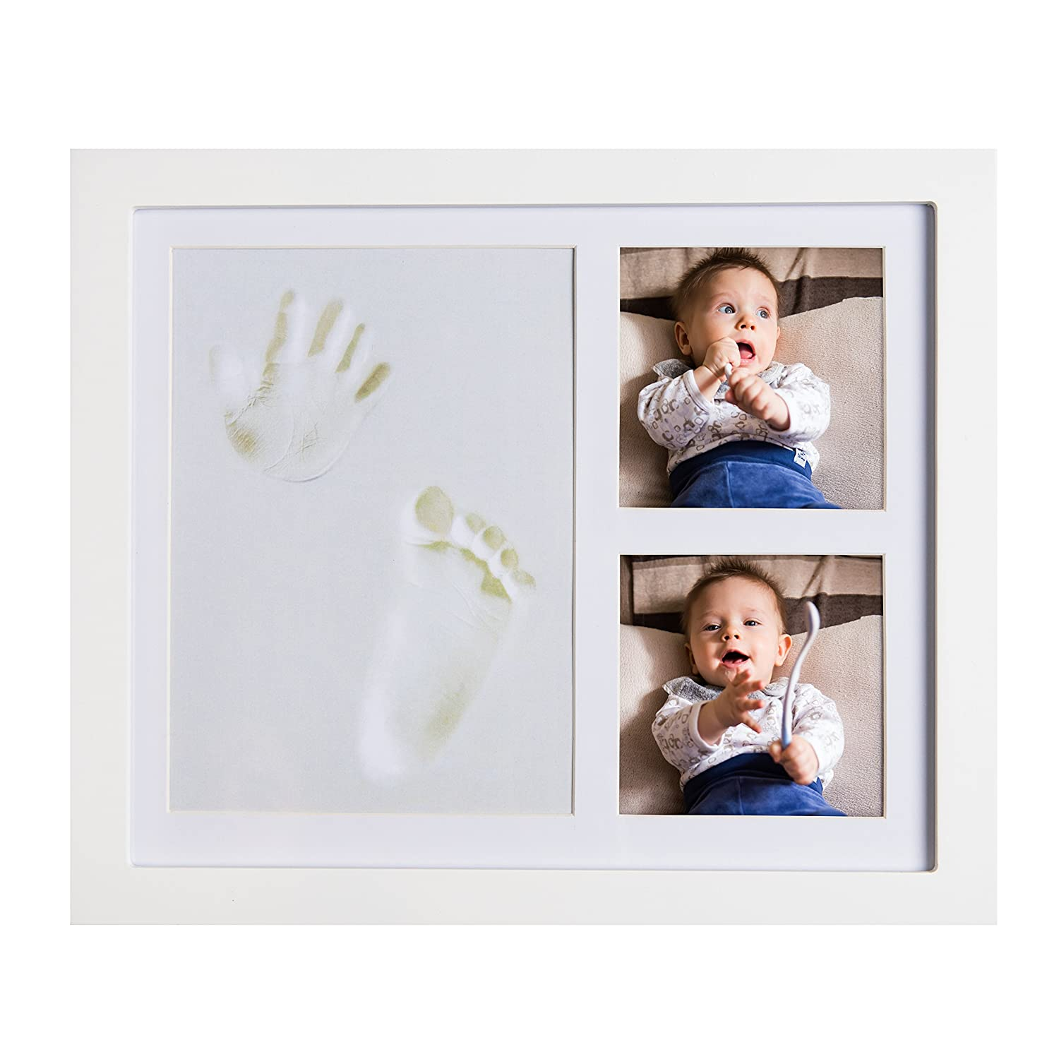 JOYBINO Baby Clay Handprint & Footprint Photo Frame Kit for Newborn Girls & Boys | Unique Baby Shower Gift Set for Newborn Parents | Memorable Keepsake Decoration for Nursery Room Wall MorganMusk