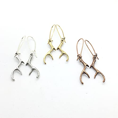 0d85795f0 Image Unavailable. Image not available for. Color: Antler Earrings - Silver  - Copper- Gold