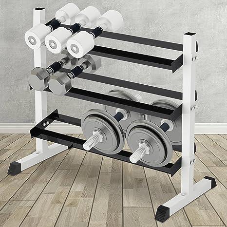 Physionics - Estante para mancuernas con capacidad de carga de 150 ...