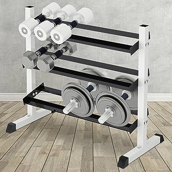 Physionics - Estante para mancuernas con capacidad de carga de 150 kg: Amazon.es: Deportes y aire libre