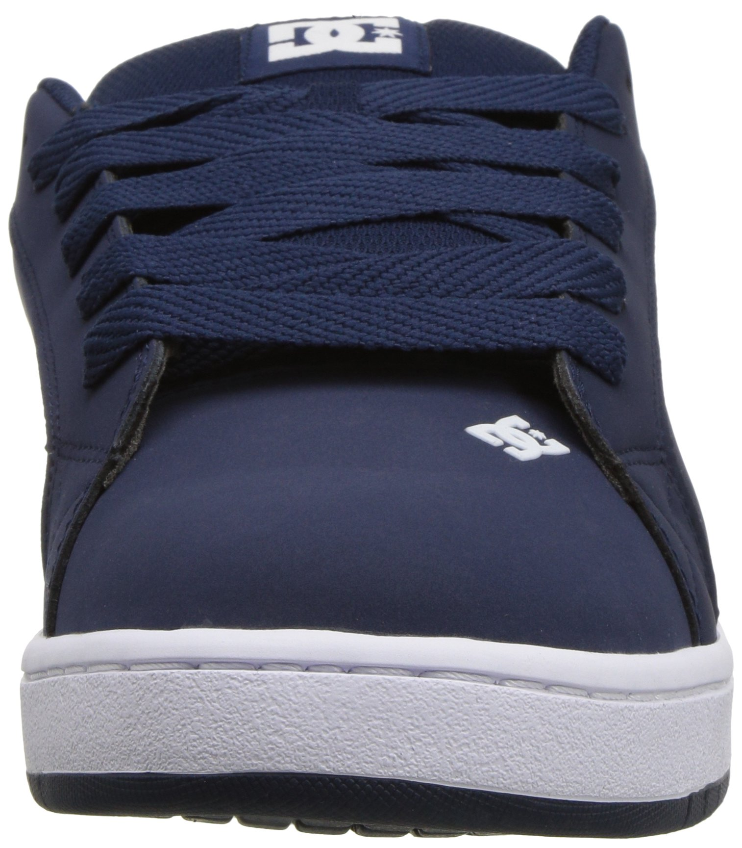 DC Men's Court Graffik Skate Shoe, Navy White 12 D D US by DC (Image #4)