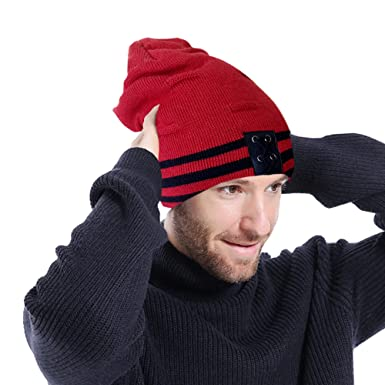 f4dd3931be5 CAP Men s Beanies Slouchy Winter Knit Skull Beanie hat (Red)  Amazon.in   Clothing   Accessories