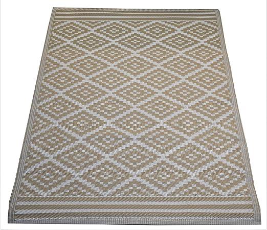 Josefine alfombras de plastico alfombra resistente exterior marrón terraza rug: Amazon.es: Jardín