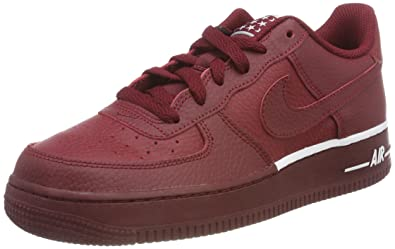 los angeles d5614 a0b69 Nike Air Force 1 (GS), Sneakers Basses Mixte Enfant, Rouge Team Red