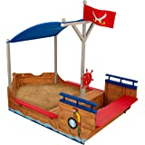 Wooden Pirate Ship Sandbox Kids Childrens Garden Play Boat