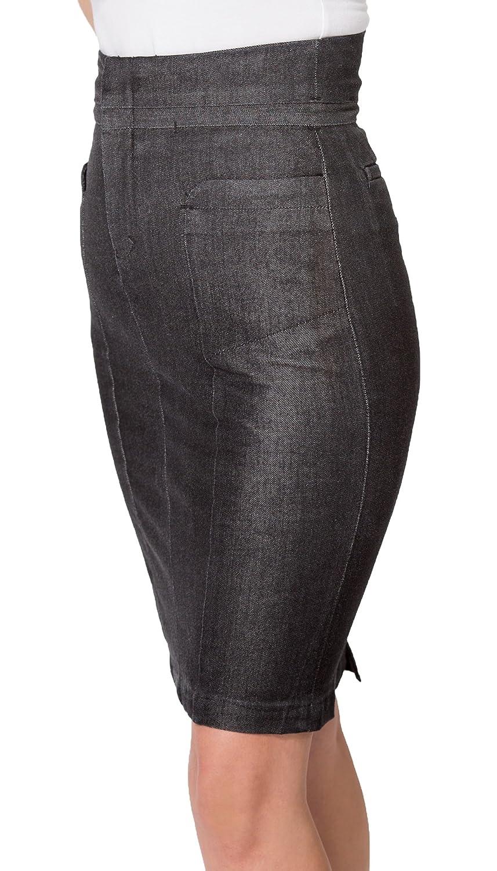 d8d8fdec2e3 High Waisted Black Skirt With Split - Gomes Weine AG