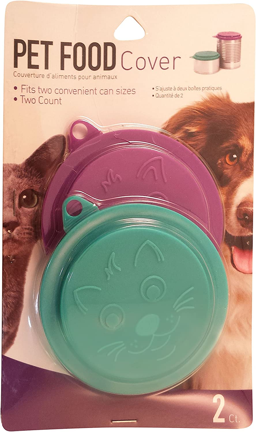 Set ofGood Living Set of 2 Pet Food Covers Meaure Inner Ring 3 Inch, Outer Ring 3.5 Inches