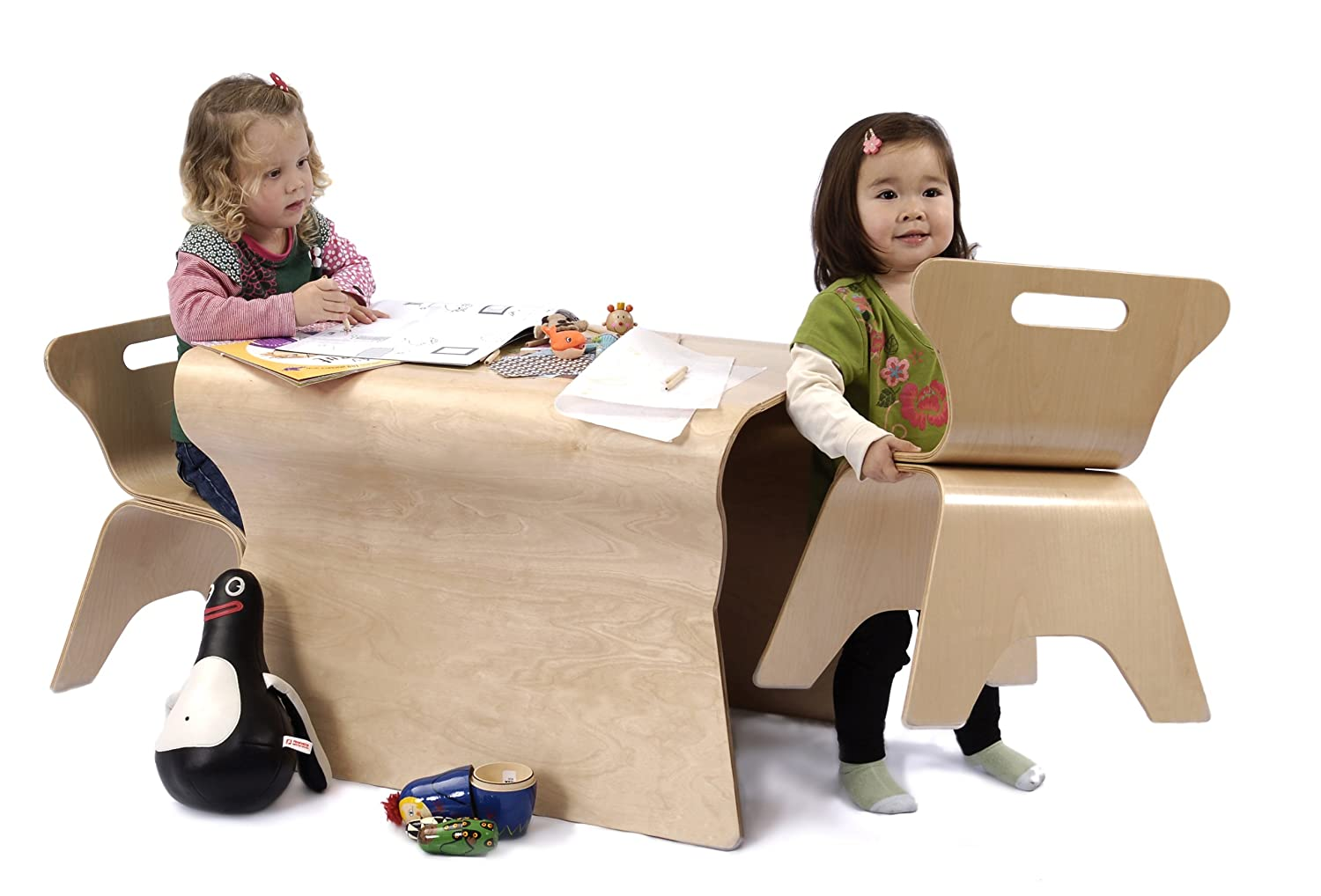 Superb Amazon.com : Bloom Otto Table And Chairs, Natural : Nursery Furniture Sets  : Baby