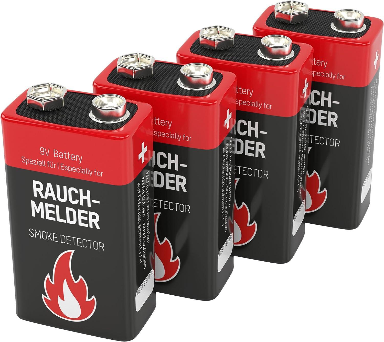 4 Ansmann Alkaline Longlife Rauchmelder 9v Block Elektronik
