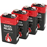 2 piles -format 9V- alcalines ANSMANN pour détecteur de fumée, 7 ans de duré de stockage / excellentes performances / idéal pour les détecteurs d'incendie, les systèmes d'alarme et les appareils médicaux