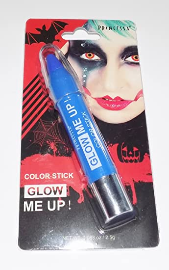 Amazon.com : Princessa Glow Me Up Stick in Blue (Glows Under UV Light) : Beauty