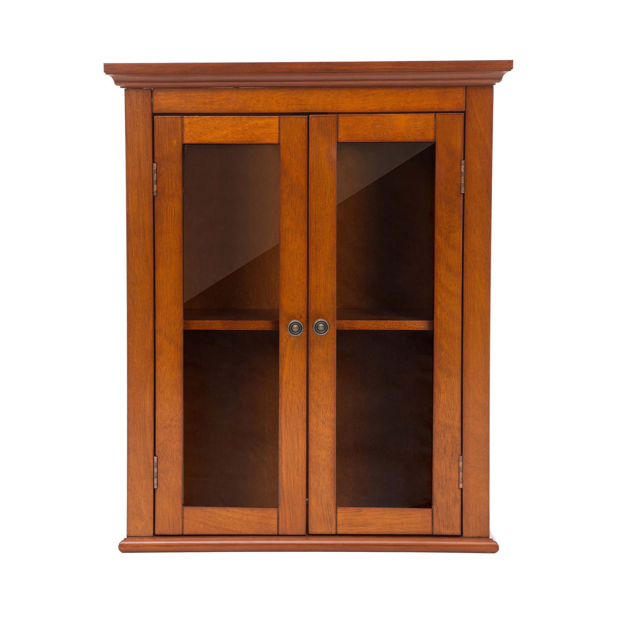 Glitzhome 24.1''H Wooden Bathroom Wall Storage Cabinet with Double Doors
