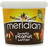 Meridian Smooth Peanut Butter - 100% Nuts, 1kg (Pack of 2)