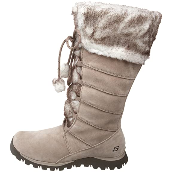Skechers Womens Grand Jams Unwritten Taupe Boots 47268 5 UK