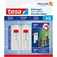 Tesa 77764-00000-00 Adjustable Adhesive Nail for Tiles & Metal, 3 kg, wit