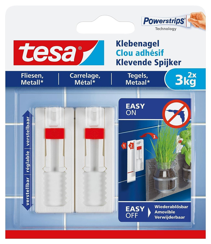 tesa Klebenagel für Fliesen und Metall, verstellbar, 3 kg: Amazon.de ...