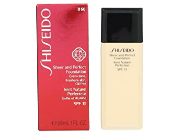 a40f9bcdc Amazon.com : Shiseido Sheer & Perfect Foundation SPF 18 - # B60 ...