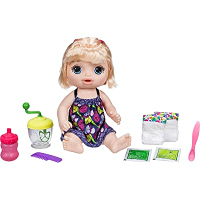 Baby Alive Sweet Spoonfuls Blonde Baby Doll Girl: Hasbro: Toys & Games