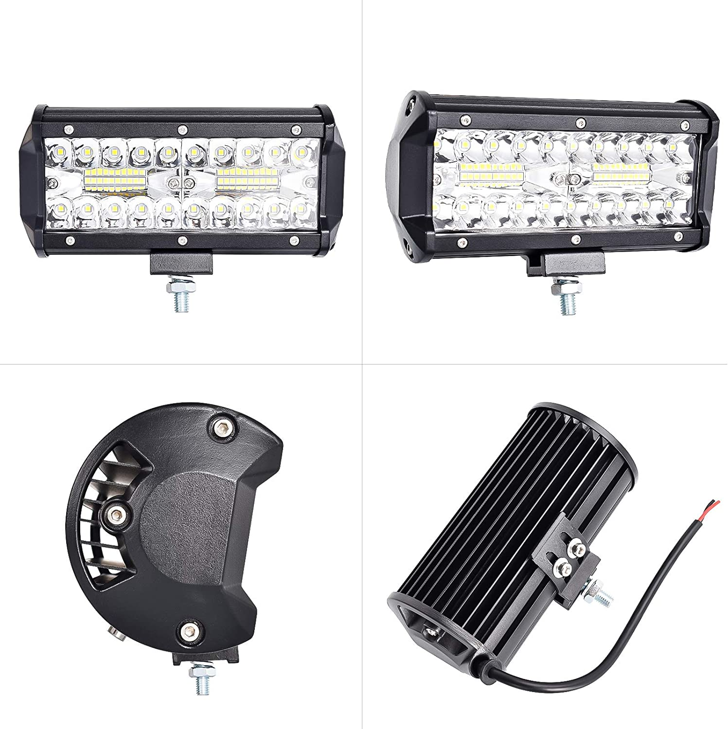 nifeida 7 LED Light Bar with Spot /& Flood Combo Beam Waterproof Triple Rows LED Work Light for Jeep Off-Road Truck Car ATV SUV Cabin Boat 2PCS 240W 24,000LM Off Road Fog Light Driving Lights