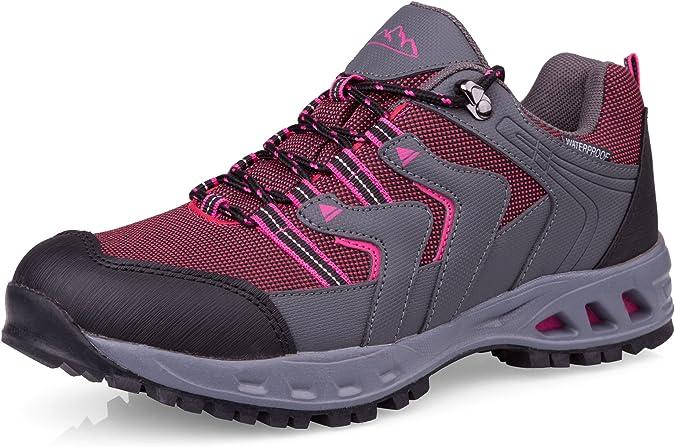 Crivit Outdoor - Zapatos con Cordones Mujer, Color Gris, Talla 41 EU: Amazon.es: Zapatos y complementos
