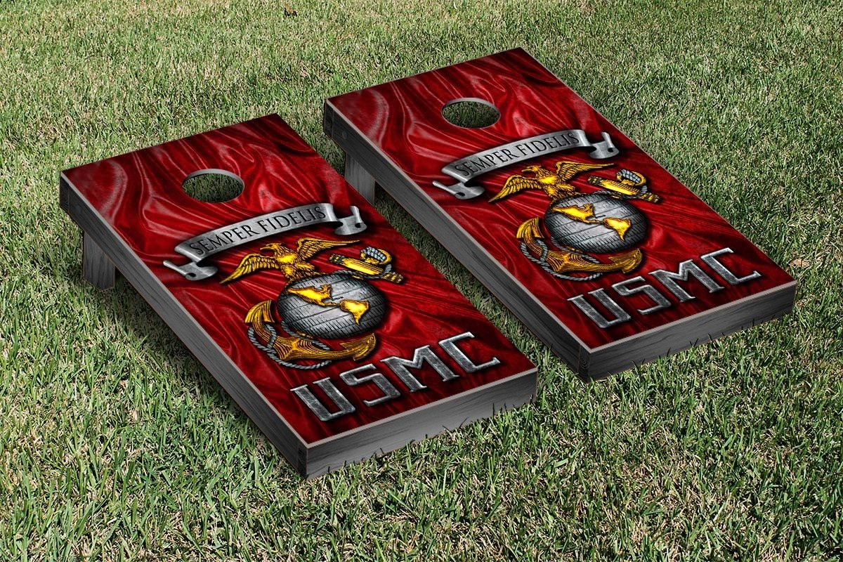 US Marine Corps USMC Semper Fidelis Semper Fi Regulation Cornhole Game Set