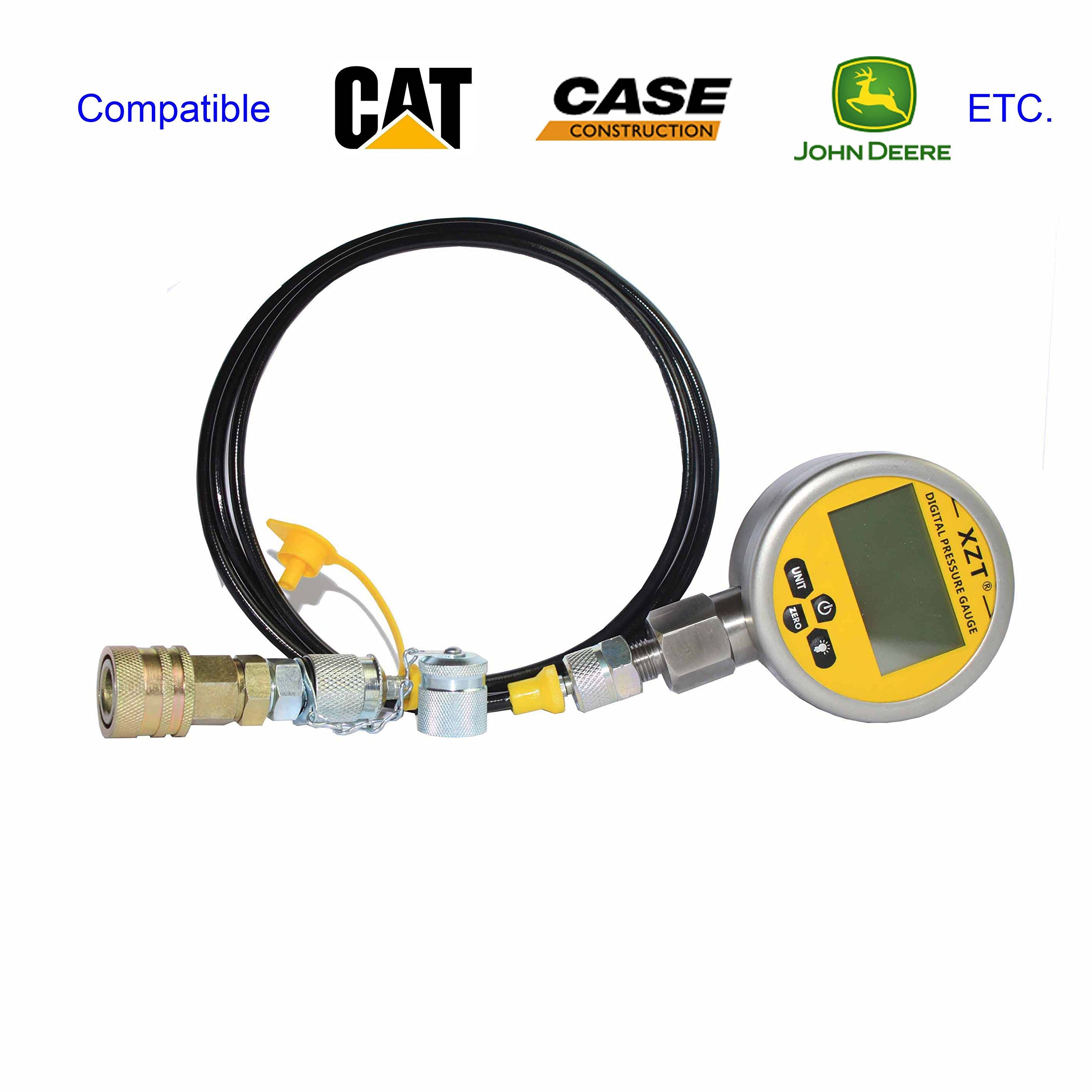 XZT Cat-10000psi Digital Hydraulic Pressure Test Coupling Kit for Excavator Construction Machinery (10000PSI)