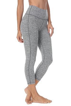"f07236cef0 Queenie Ke Women 22"" Yoga Capris Power Flex Mid-Waist Running Pants  Workout Tights"