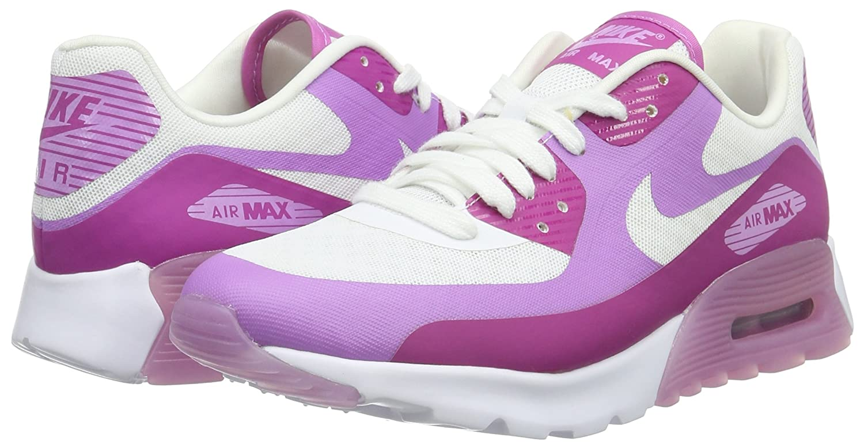 Nike Wmns Air Max 90 Ultra Breathe, Zapatillas para Mujer, Blanco (White/Fuchsia), 40 EU