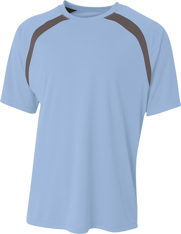 A4 Boys Spartan Short Sleeve Color Block Crew