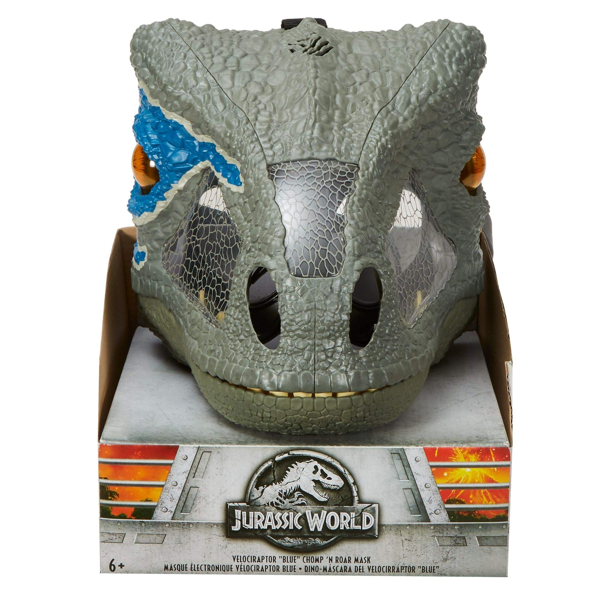 Jurassic World Chomp 'n Roar Mask Velociraptor ''blue'' by Jurassic World Toys (Image #9)