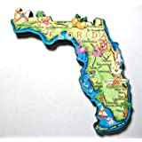 Florida the Sunshine State Artwood Jumbo Fridge Magnet