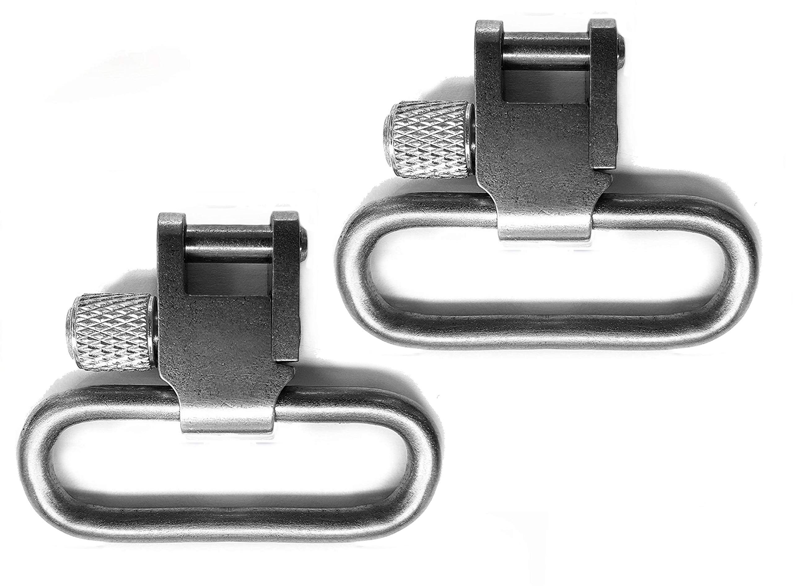 Detroit Leather Shop Pair of Nickel Silver Finish 1.25 Inch Tri-Lock Rifle Sling Swivels by Detroit Leather Shop