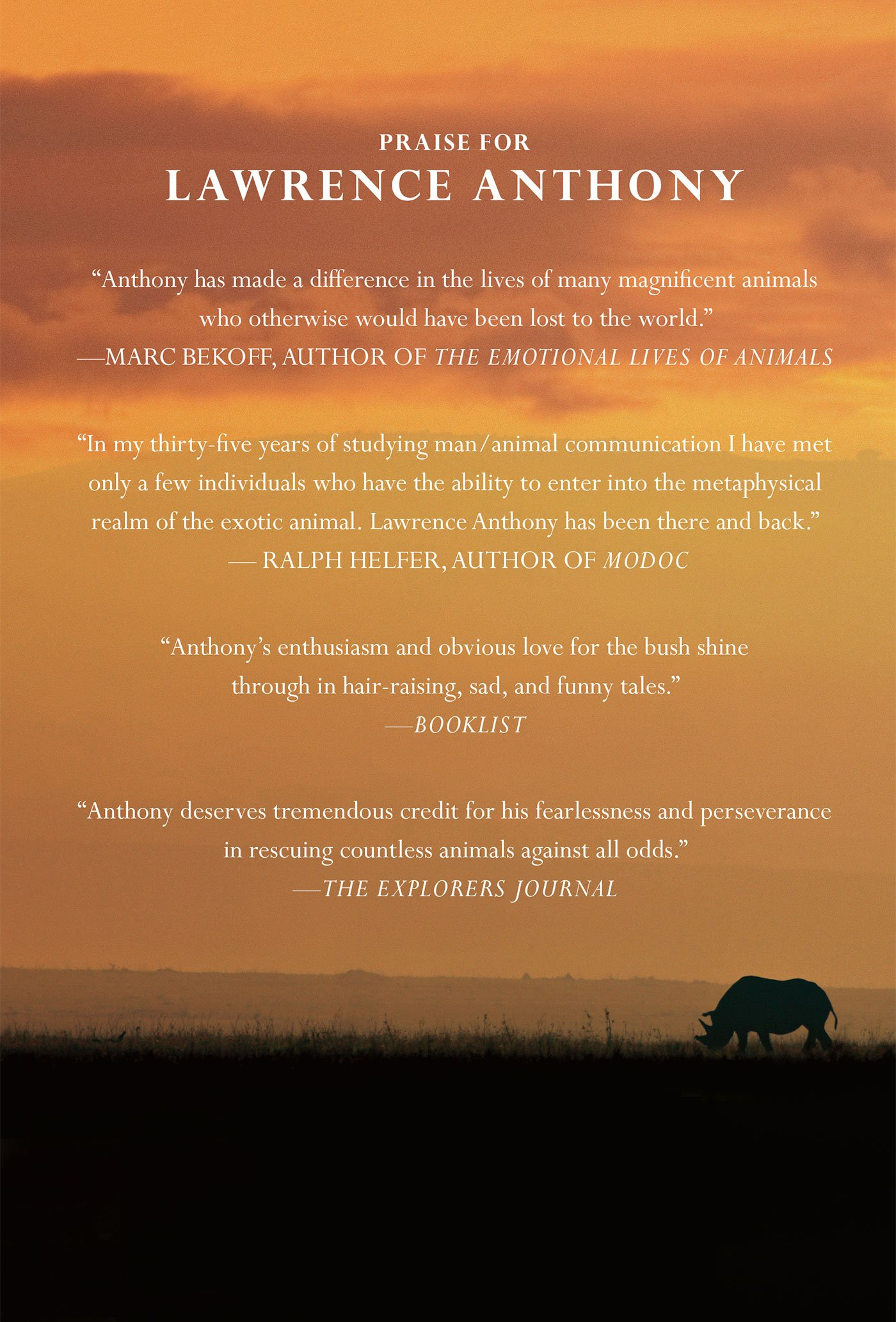 The Last Rhinos: My Battle to Save One of the World's Greatest Creatures:  Lawrence Anthony, Graham Spence: 9781250004512: Amazon.com: Books