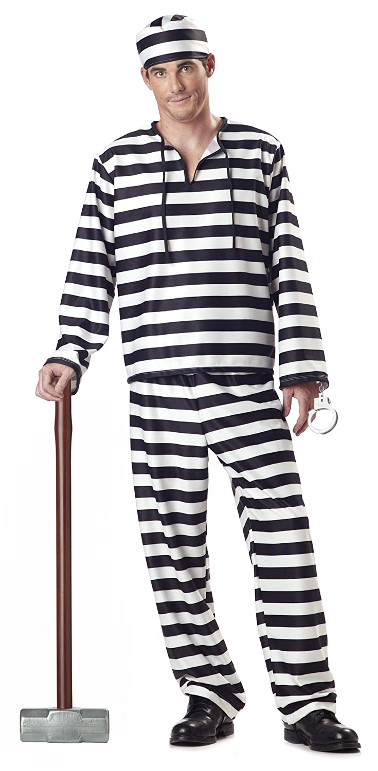 amazoncom california costumes jailbird man adult costume clothing