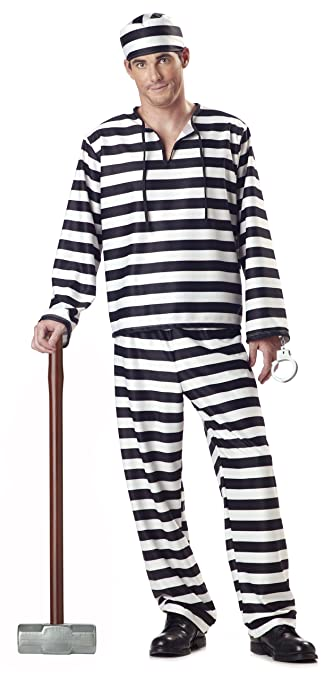 1920s Men's Costumes: Gatsby, Gangster, Peaky Blinders, Mobster, Mafia California Costumes Jailbird Man Adult Costume $59.44 AT vintagedancer.com