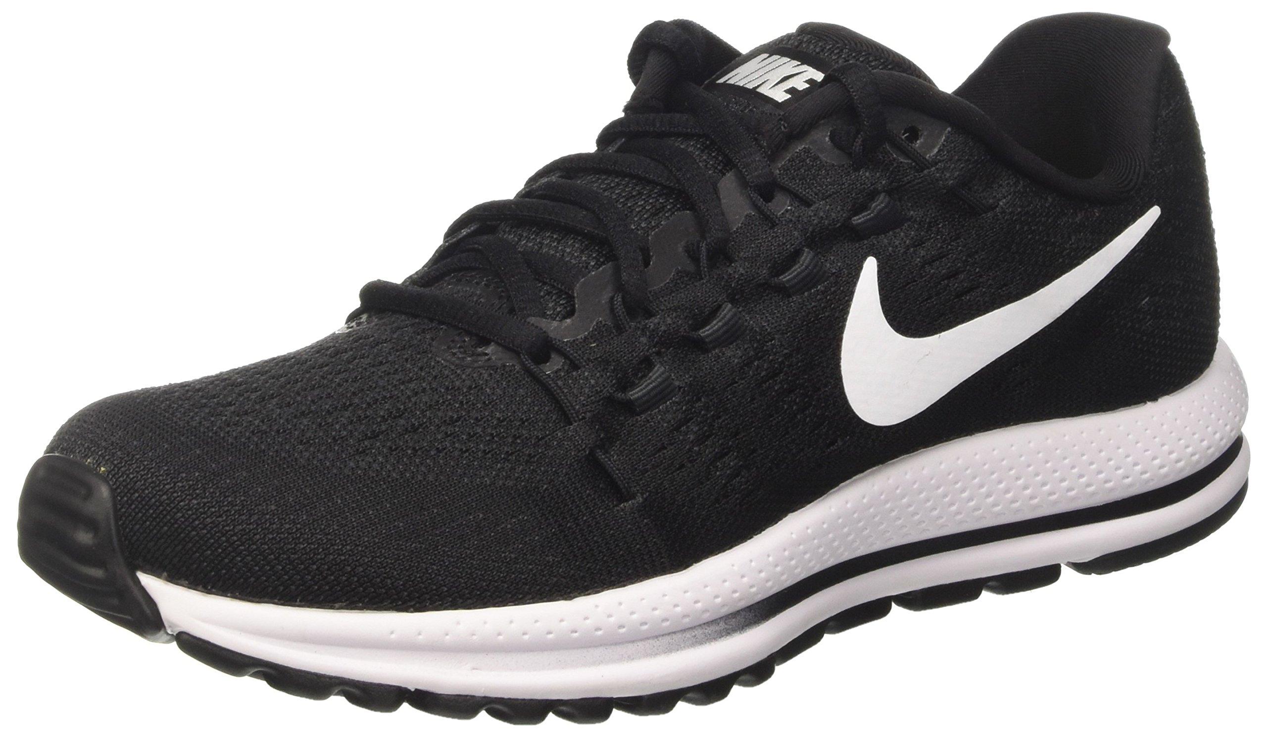 NIKE Womens Air Zoom Vomero 12 Running Shoe Black/Anthracite/White 7 B(M) US