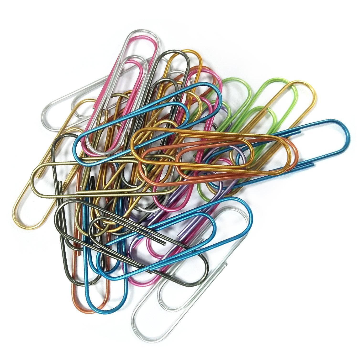 10 cm Multicolored Giant Big Sheet Holder for Files Office Supply Super Large Paper Clips Vinyl Coated Papers Flying Swallow 50 Pack 4 Inch Assorted Color Jumbo Paper Clip Holder