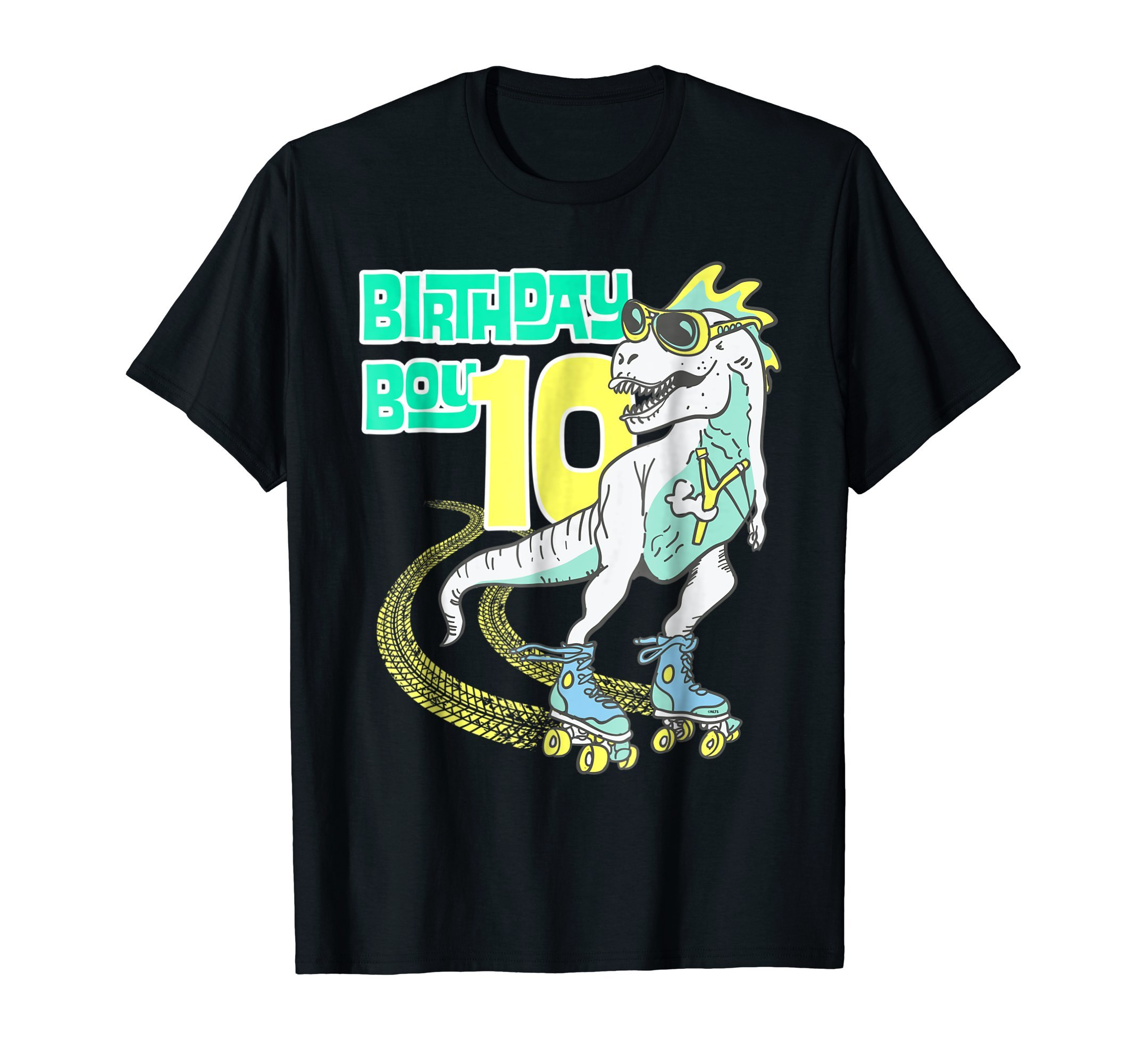 Dinosaur-Skater-Birthday-Boy-10th-Birthday-Fun-Humor-T-Shirt