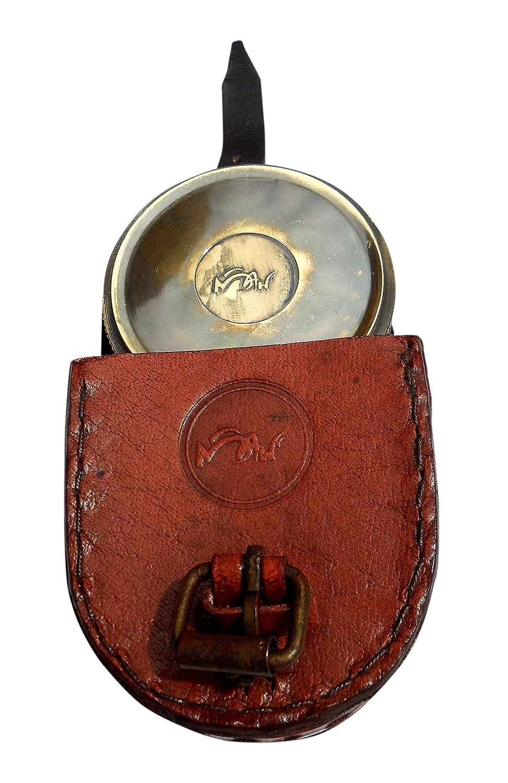 C-3122 MARINE ART HANDICRAFTS MAH Robert Frost Brass Poem Compass