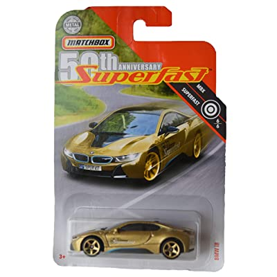 Matchbox 50th Anniversary Superfast 6/6 BMW i8 87/100, Gold: Toys & Games