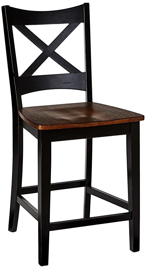 Amazon.com - Simmons Casegoods Height Chair, Black Rustic ...