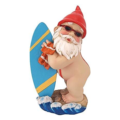 Amazon Com Garden Gnome Statue Shredder Surfer Dude Gnome