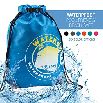 Protect Wallet iPhone + Valuables Waterproof Ripstop Nylon WaterSeals Unisex Anti-Theft Locking Cinch Drawstring Backpack