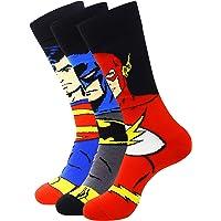 Justice League Men's Character Socks - Superman, Batman, Flash