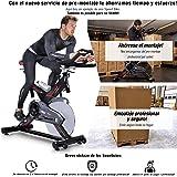 Sportstech SX400 Bicicleta estática Profesional con App Control para Smartphone + Street View, Disco de inercia de 22Kg con Sistema por Correa silencioso