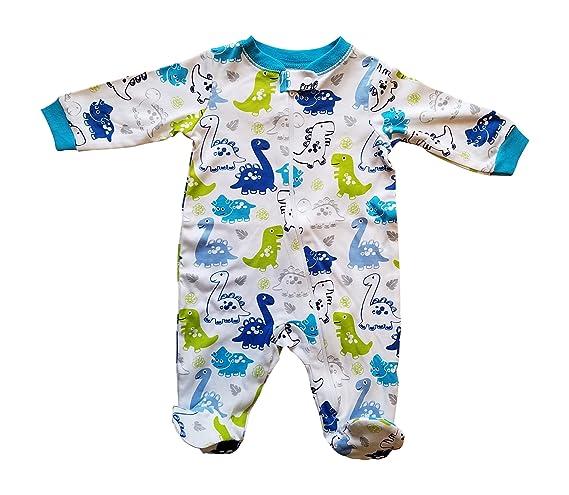 eebf30bf4b1a Amazon.com  Garanimals Baby Toddler Pajamas with Footies Dinosaur ...