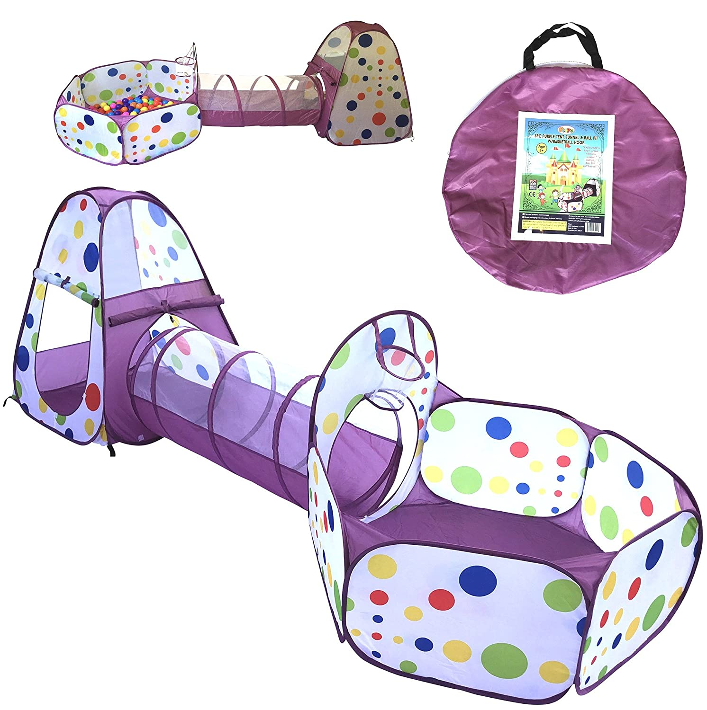 Playz 3-Piece Kids Play ...  sc 1 st  Amazon.com & Amazon.com: Play Tents u0026 Tunnels: Toys u0026 Games: Play Tents Play ...